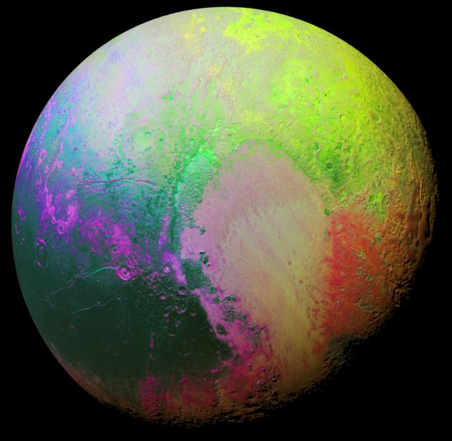 Pluto area with no craters