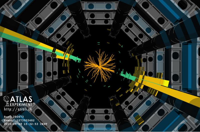 Atlas Experiment perhaps Hoggs Boson type particle found at LHC