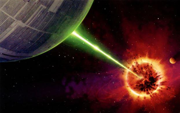Death Star blasting a planet