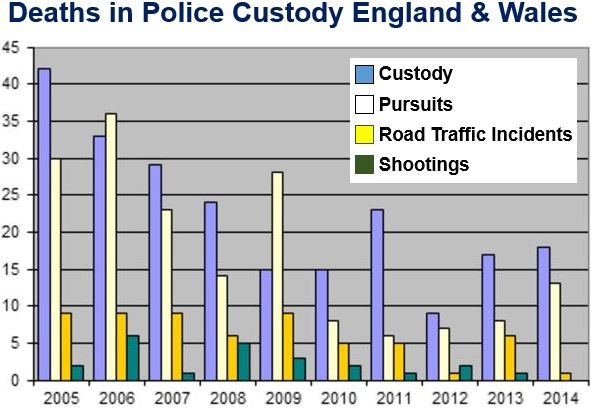 Deaths in Police Custody England and Wales