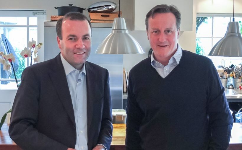 Manfred Weber and David Cameron