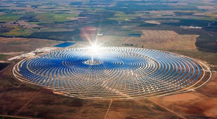Morocco solar power plant