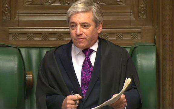 Speaker of the House John Bercow