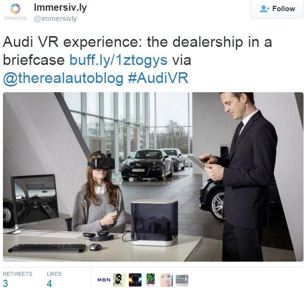 Audi Virtiual Reality experience