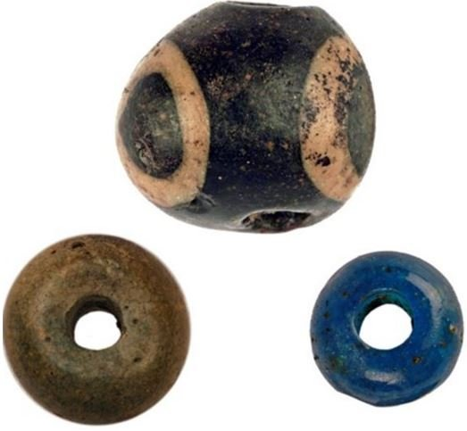Bronze Age beads part of a necklace