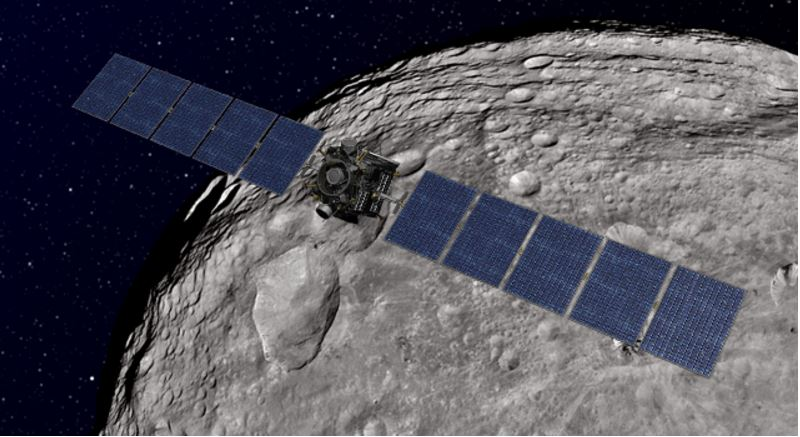 Dawn spaceprobe near Vesta