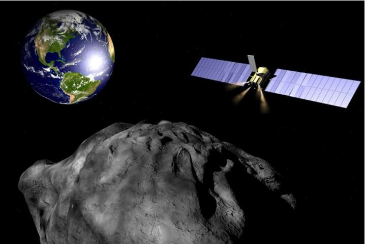 Gravity tractor to pull killer asteroid off course