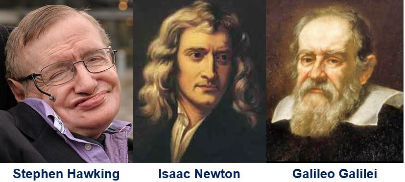 Hawking feels closer to Galileo than Newton