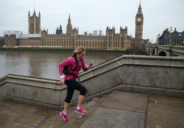Jogging in London