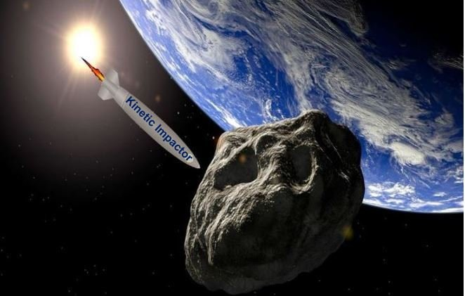 Kinetic impactor to push killer asteroid off course