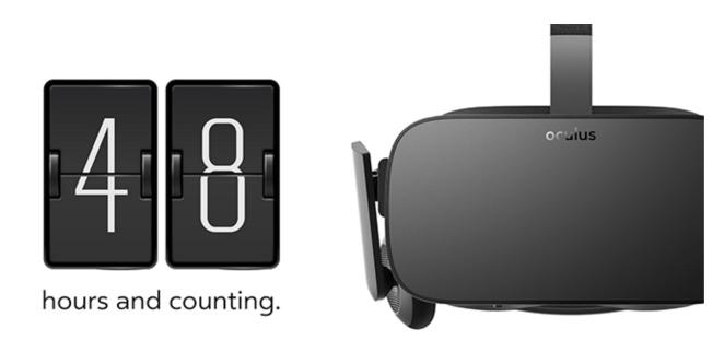 Oculus Rift VR countdown