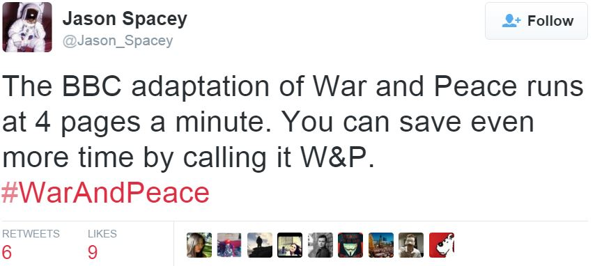 War and peace comment by Jason Spacey