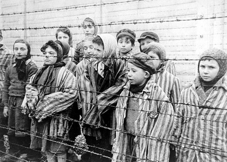 Young survivors of Auschwitz