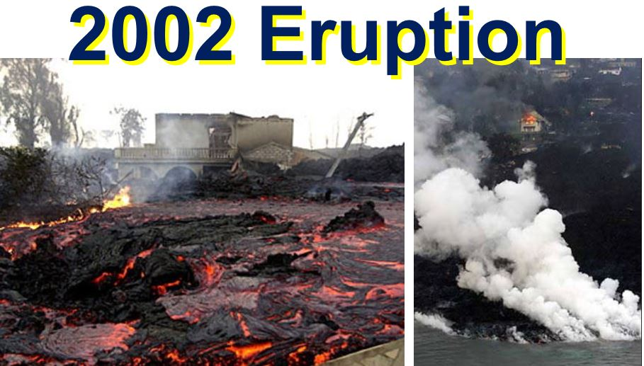 2002 eruptions