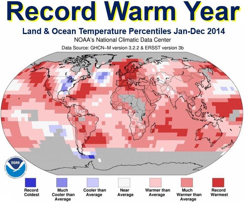 2014 record warm year