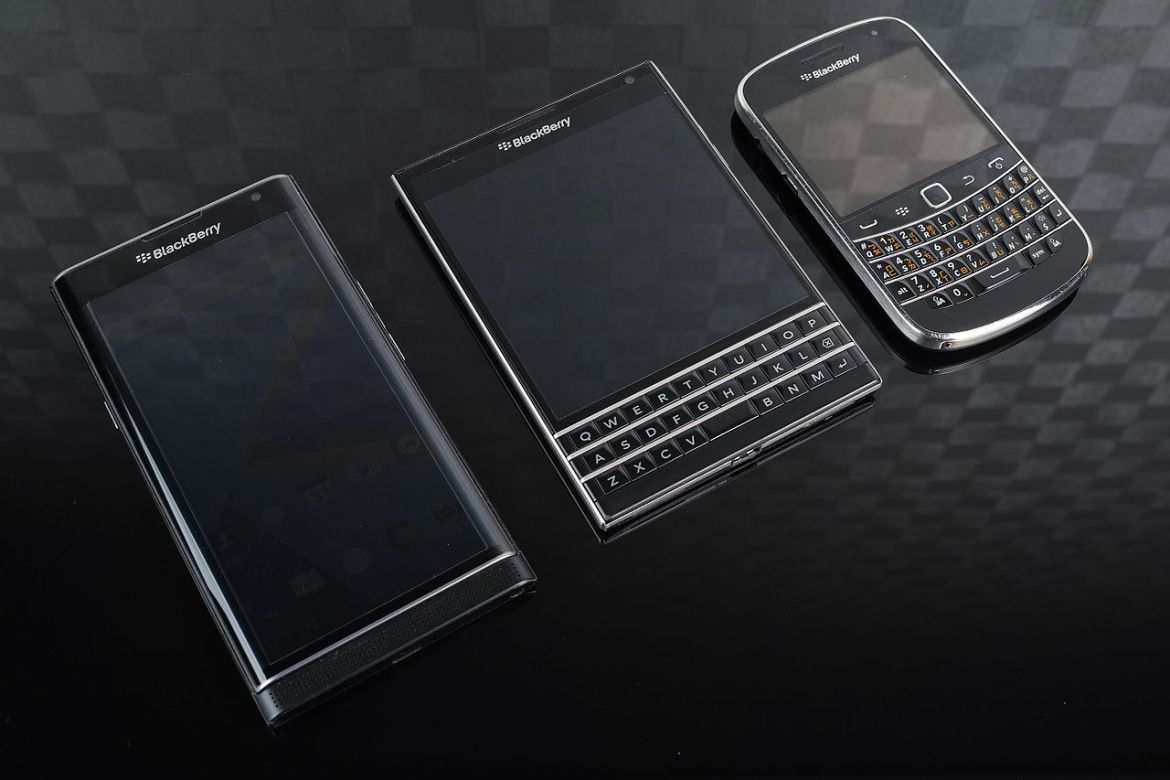 The BlackBerry Priv, Passport and Classic. Only the Priv, which runs on Android, will continue to have WhatsApp support.