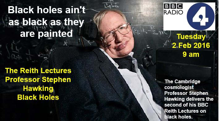 Professor Stephen Hawking delivers second lecture on black holes