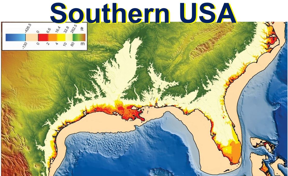 Sea Level Rise Southern USA