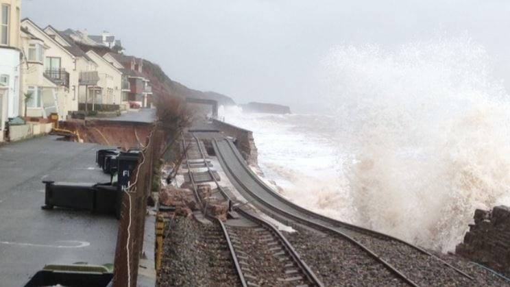 railway lines collapses