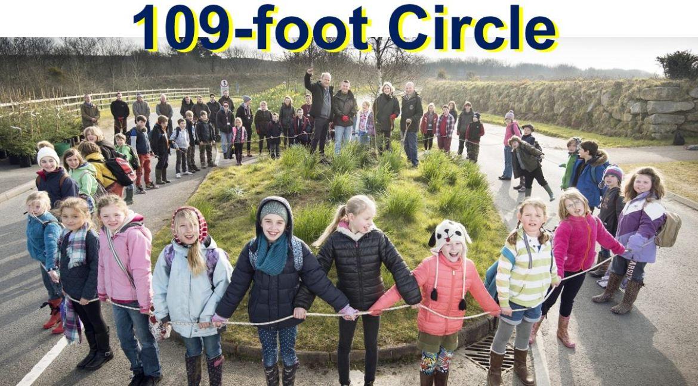 109 Foot Circle like circumference of tree