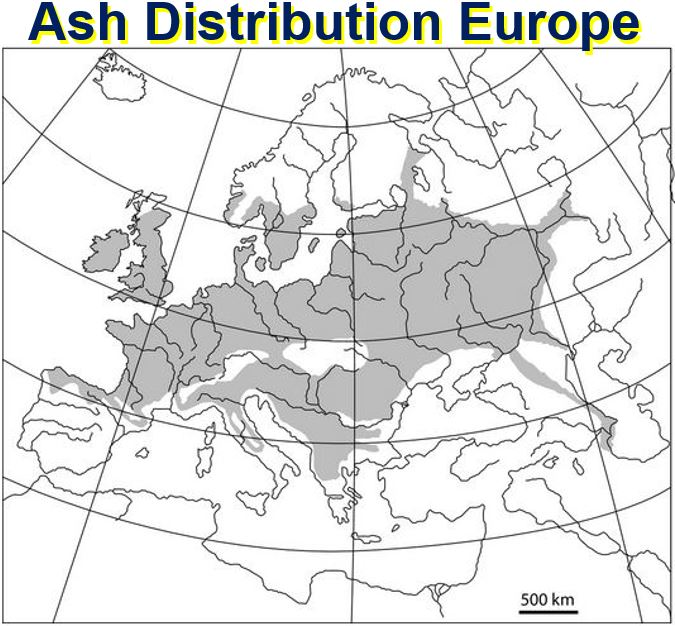 Ash Distribution Europe
