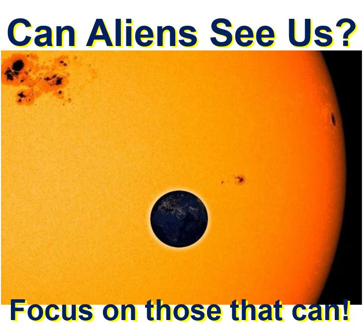 Focus on aliens that can see us
