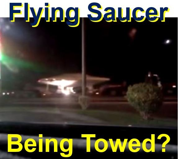 Looks like a flying saucer being towed in USA