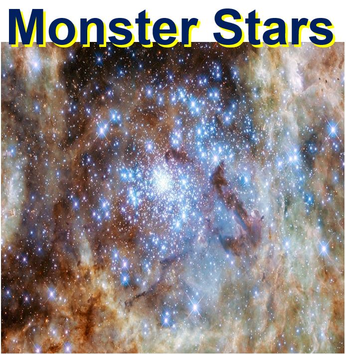Monsters stars found in young cluster