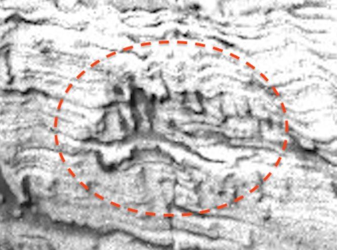 Original NASA picture showing running man