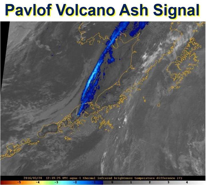 Pavlof Volcano Ash Signal