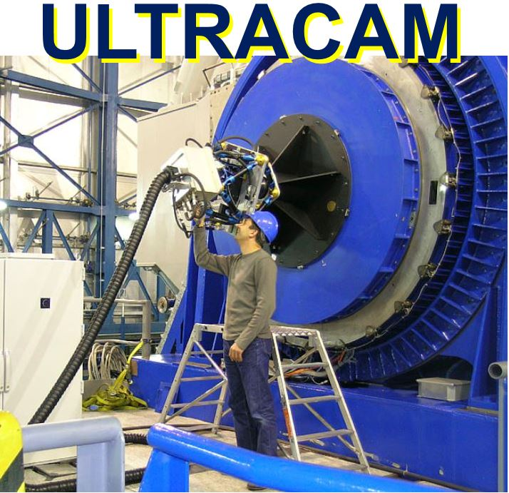 ULTRACAM being fitted onto telescope
