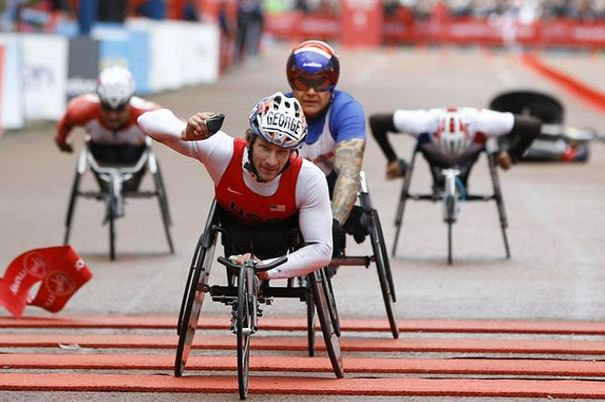 London Marathon wheelchair race
