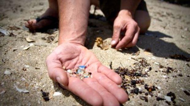 Microbeads on beach
