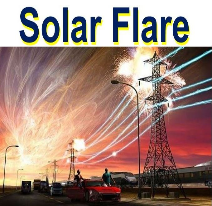Solar flar hitting Earth