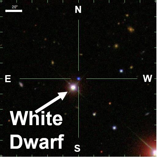White Dwarf star full of oxygen