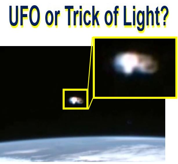 A UFO or trick of light near ISS