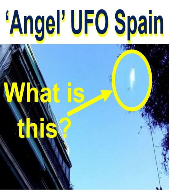 Angel like UFO seen in Spain