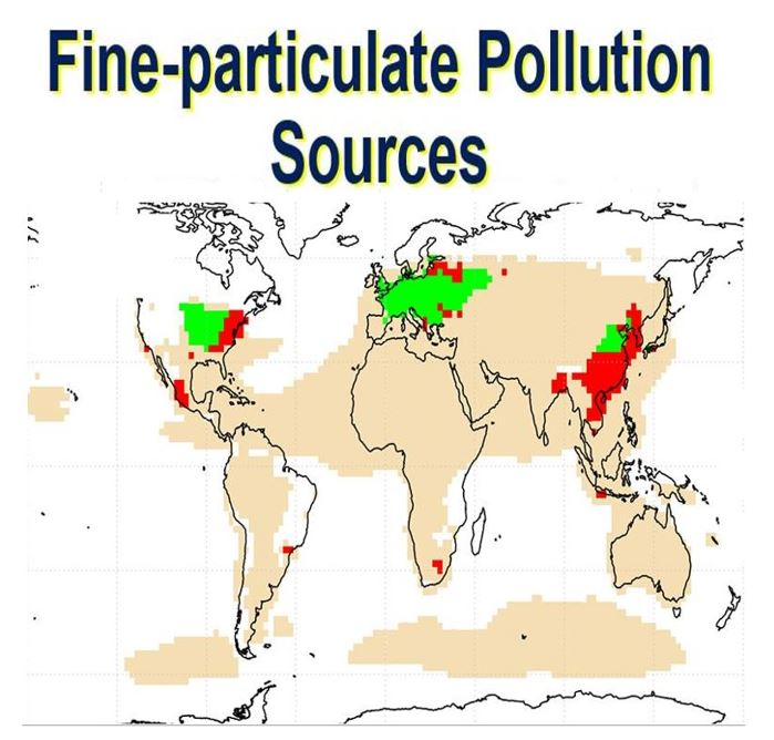 Fine particulate pollution sources