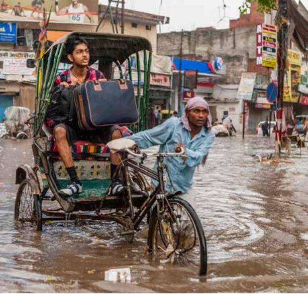 Flash flood in India