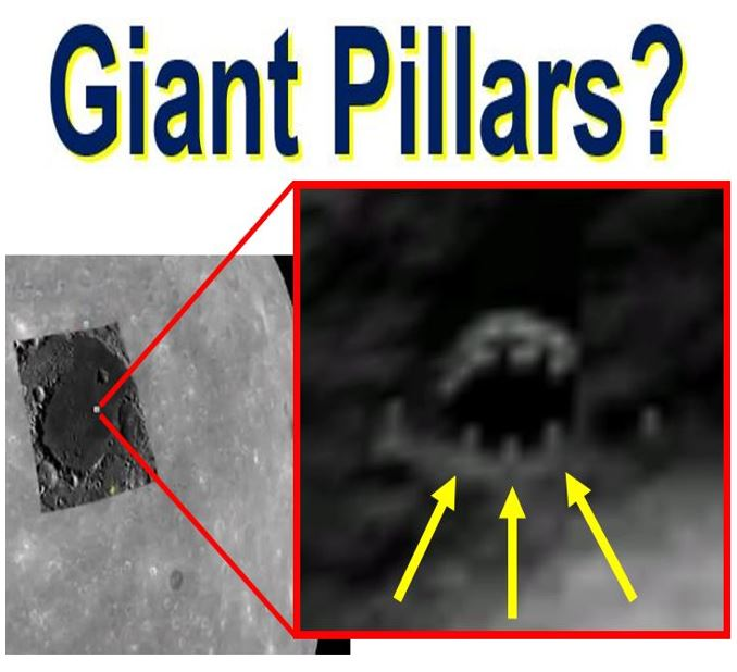 Giant towers on the Moon