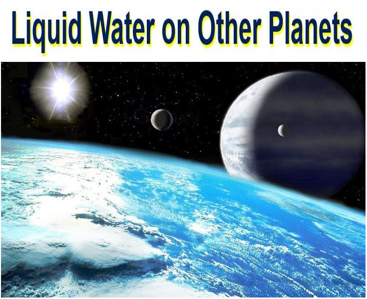 Liquid water on other planets