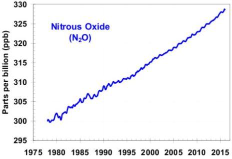 Nitrous oxide concentrations