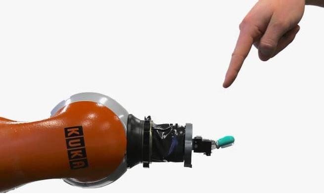 Robot pain demonstration