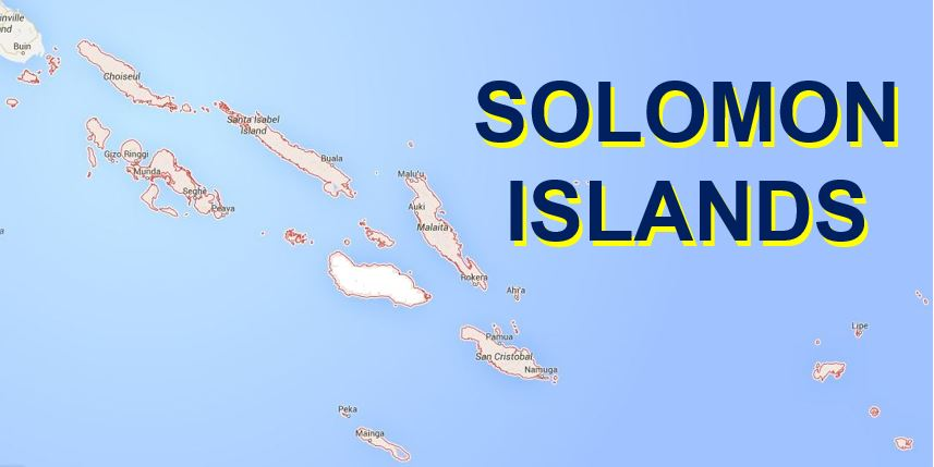 The Solomon Islands Map