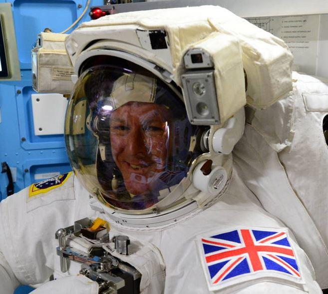 Tim Peake before spacewalk