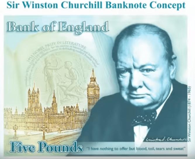 Winston Churchill 5 pound note