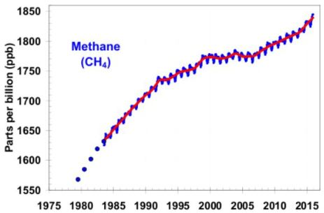 atmospheric methane concentrations