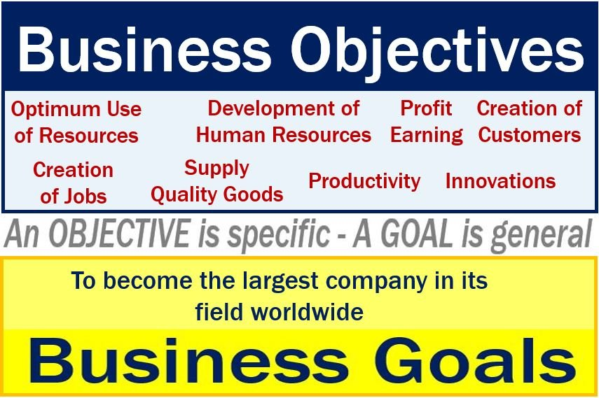 Business objective versus business goal - image
