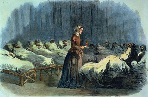 Florence Nightingale in hospital ward