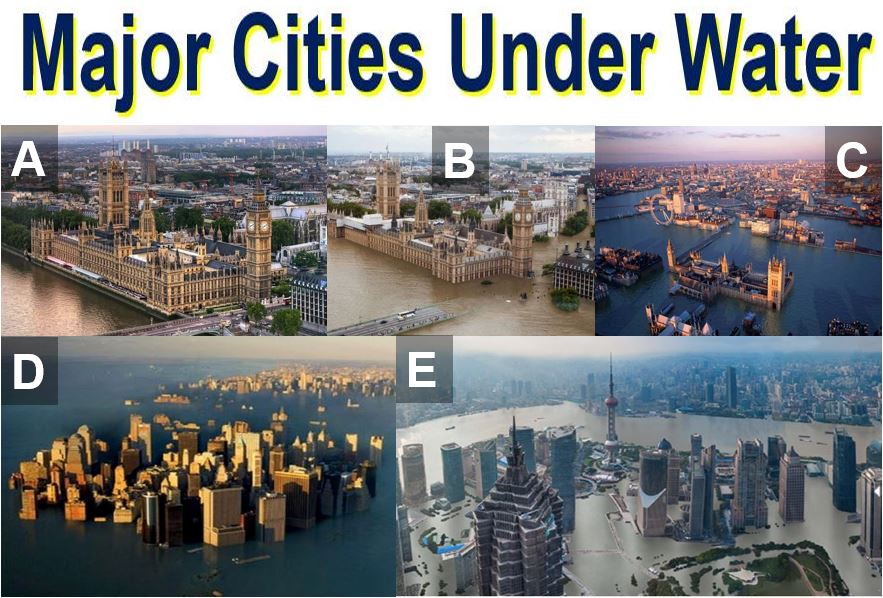Major cities under water
